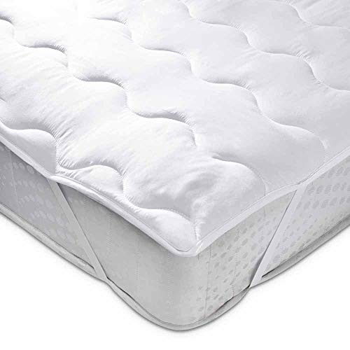 wilko Supersoft Double Mattress Topper (135 x 190cm), Easy-care Double Mattress Topper for Additional Comfort