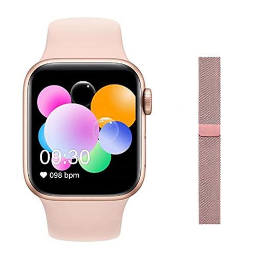 LJMG Smart Watch New Music, T900 Pulsera Inteligente Táctil T900 para Hombres Y Mujeres, Adecuado para Teléfonos Android De iOS PK X6 T500 T600,E