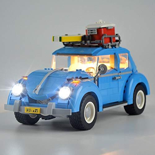 IAMXXYO Kit De Iluminación LED para (Volkswagen Beetle) Compatible con Ladrillos De Construcción Lego Creator Modelo 10252,(Juego De Legos No Incluido)
