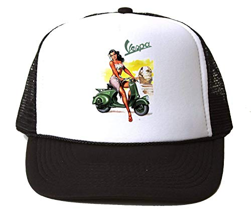 PasTomka Hot Girl On Vespa Poster Baseball Cap Unisex Mütze Kappe One Size