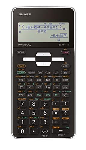 Sharp EL-W531 TH-WH Wissenschaftlicher Schulrechner (WriteView-Anzeige, D.A.L.-Eingabe, Batteriebetrieben) weiß/schwarz