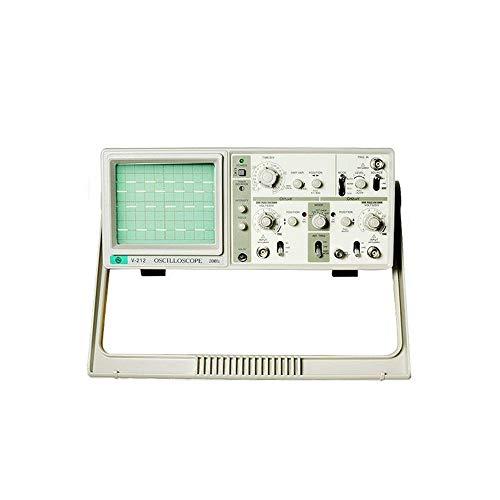 Osciloscopio Digital 110V / 220V V-212A MCH Dual Channel 20MHz osciloscopio analógico con Imported CTR y 6 Digit Frecuencia Meter (Color : Blanco, tamaño : 110v)