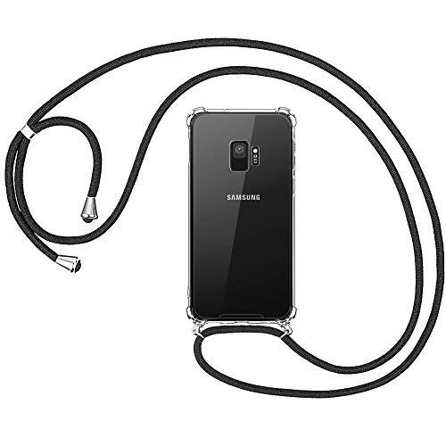 opamoo Handykette Samsung Galaxy S9, Samsung S9 Handyhülle mit Kordel Necklace Schnur Stoßfest Fallschutz Bumper Silikon Schutzhülle mit Band Anti-Scratch Umhängen Necklace Hülle für Samsung Galaxy S9