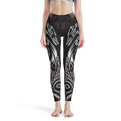 Vartanno Las mujeres vikingas Leggings estirables corriendo vikingo yoga pantalones para deportes blanco S