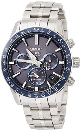 [セイコーウォッチ] 腕時計 アストロン 第3世代 ソーラーGPS チタンモデル 黒文字盤 サファイアガラス ダイヤシールド SBXC001 メンズ シルバー