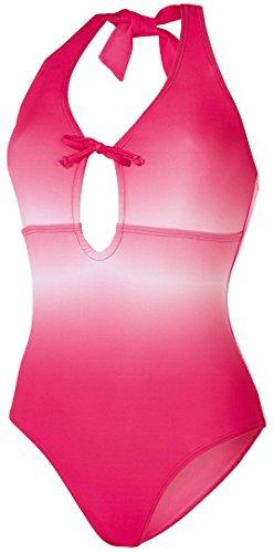 Esmara® Damen Badeanzug (pink/weiß Verlauf, Gr. 38)