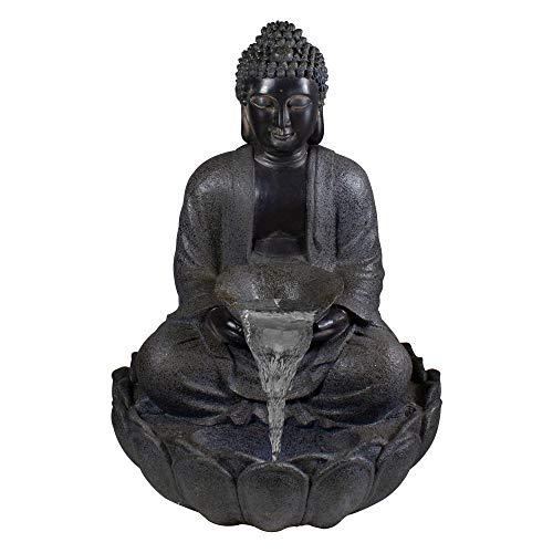 Northlight 33.75' Black Buddha Outdoor Garden Water Fountain