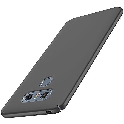 anccer LG G6 Hülle, [Serie Matte] Elastische Schockabsorption und Ultra Thin Design für LG G6 (Serie Matte, Glattes Schwarzes)