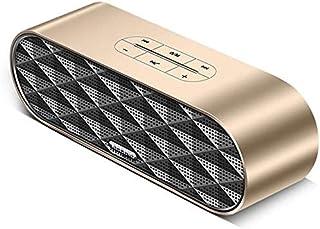 KJRJLY Bluetooth Speaker, Laptop Audio Subwoofer Multimedia Desktop Small Speaker Mini Usb Home Impact Waterproof Battery Life Sound Quality (Color : Gold)