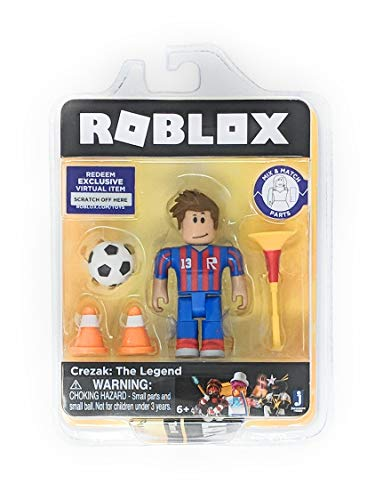 Roblox Gold Collection Crezak: The Legend Single Figure Pack with Exclusive Virtual Item Code