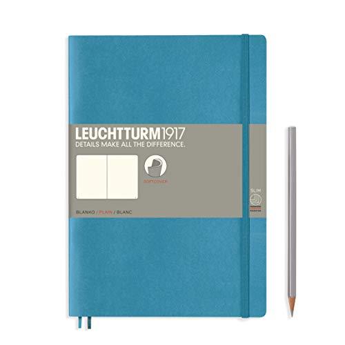 ロイヒトトゥルム ノート B5 無地 ソフトカバー ノルディックブルー 355299 正規輸入品