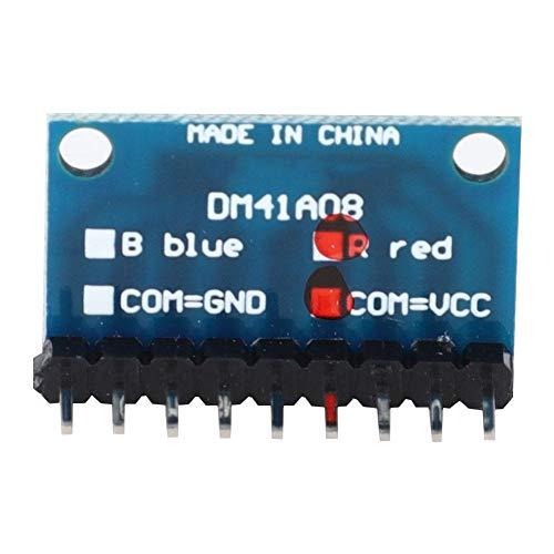 4-delige led-kathoden-weergavemodule blauw/rood Breadboard-kit voor gemeenschappelijke kathode/gemeenschappelijke anode voor MCU ARM 3D-printer 3-24 V DM41A08_R_VCC Red Common Anode With Pin