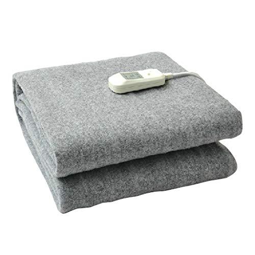 Verwarmde matras, elektrisch, dubbellaags, verwarming met 5 snelheden, vergelijkbaar met kasjmier, automatische uitschakeling, beddengoed De La Villa