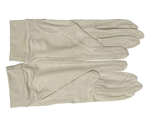 LSHARON Handschuhe aus 100 % Maulbeerseide, Thermofutter, für Ski, Fahrrad, Fahrrad Gr. 85, beige