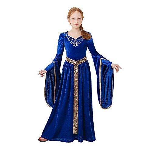 Pettigirl Filles Costume Princesse Médiévale pour Fille Renaissance