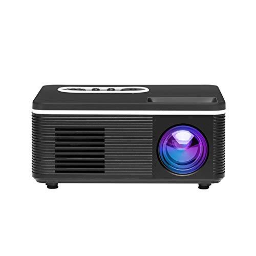 Moligh doll Proiettore LED 1080P Videoproiettore da 600 Lumen con Spina Europea Nera