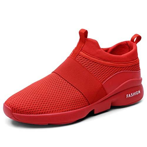 HangFan Herren Sneaker Neutral- und Straßenlaufschuhe Atmungsaktiv Sportschuhe Freizeitschuhe Laufschuhe