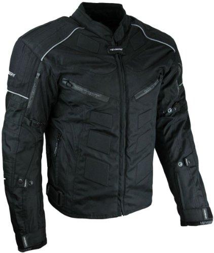 HEYBERRY Kurze Textil Motorrad Jacke Motorradjacke Schwarz Gr. L