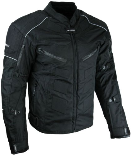 Kurze Textil Motorrad Jacke Motorradjacke Schwarz Gr. XL