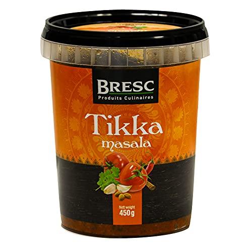 Bresc Tikka Masala Spice Mix - 1x 450g - vegane indische Gewürzmischung für authentisches Kochen, passt zu Chicken Tikka Masala, jeglichen Gemüse-Reis-Gerichten, pikanter kräftiger Geschmack