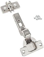 BLUM Clip top meubelscharnier   Meubelband; binnenaanslag zonder veer, 2 stuks incl. montageplaten, schroeven en montagehandleiding (mogelijk niet beschikbaar in het Nederlands).
