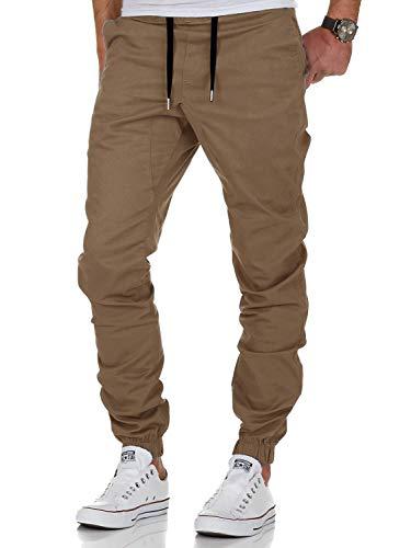 AitosuLa Herren Jogginghose Baumwolle Freizeithose Sport Slim Fit Trainingshose Sweatpants Jogger Pant, S, Khaki