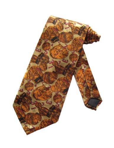 Roberto Cellini Mens Old Fashion Baseball Necktie - Khaki - One Size Neck Tie
