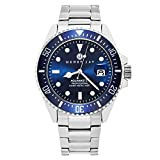 """Henry Jay Mens Stainless Steel """"Specialty Aquamaster"""" Professional Dive Watch"""
