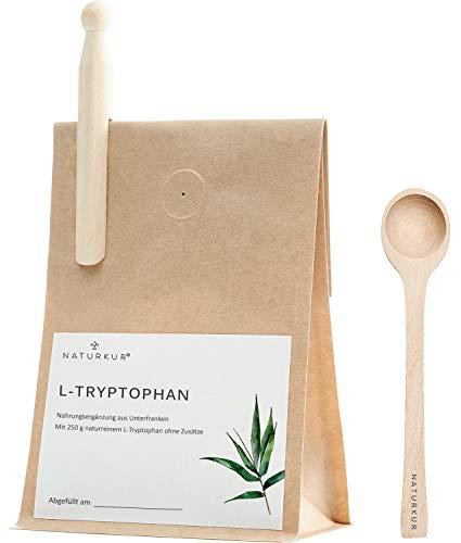 Naturkur® L-Tryptophan - 250 g im lebensmittelechtem Beutel mit Aromaschutzventil - Laborgeprüft, rein pflanzliche Fermentation, ohne Zusatzstoffe und sorgfältig hergestellt in Deutschland