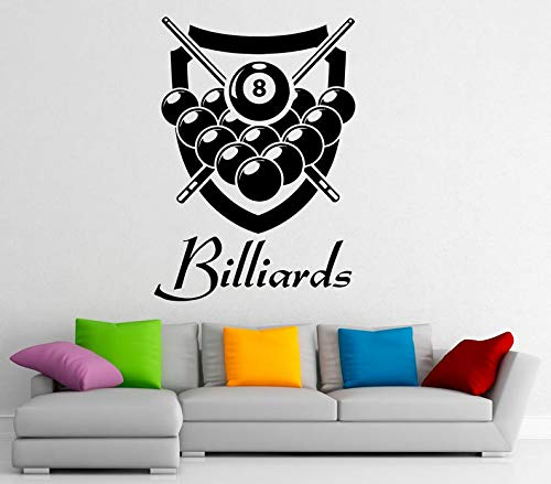 CECILIAPATER Wandtattoo Billard Vinyl Sticker Snooker Sport Spiel Home Interior Design Art Murals Schlafzimmer Decor (9blr01d)