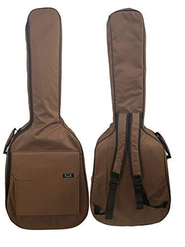 Gitarrentasche Konzertgitarre Gig Bag Rucksack Tasche gepolstert 4/4-3/4-1/2 - (4/4-101 cm, Braun)