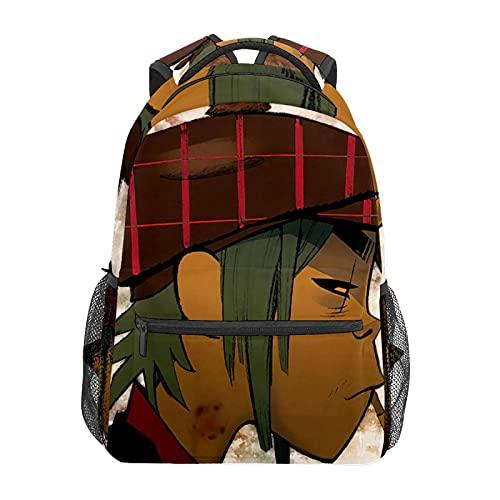GorillazJapanese animación mochila portátil bolsa de viaje durable impermeable estudiante; mochila moderna