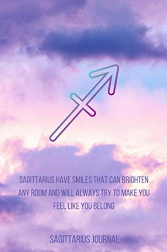 Sagittarius Journal: Lined Writing Journal (Zodiac Purple Sky Set)