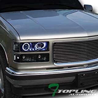 Topline Autopart Black Led Halo Projector Head Lights+Bumper+Corner Yd 1994-1999