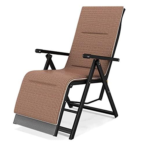 Silla camping plegable sillas plegables camping Plegables playa Tumbona con el amortiguador de los apoyabrazos de la cintura almohada de seda del hielo silla de camping portátil for fiestas de camping