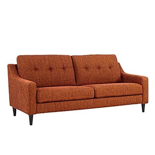 Domesis Scooped Arm Sofa in Orange Tweed