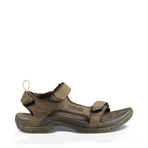 Teva Tanza Leather 9024 - Sandalias de cuero para hombre, Marrón, 40.5