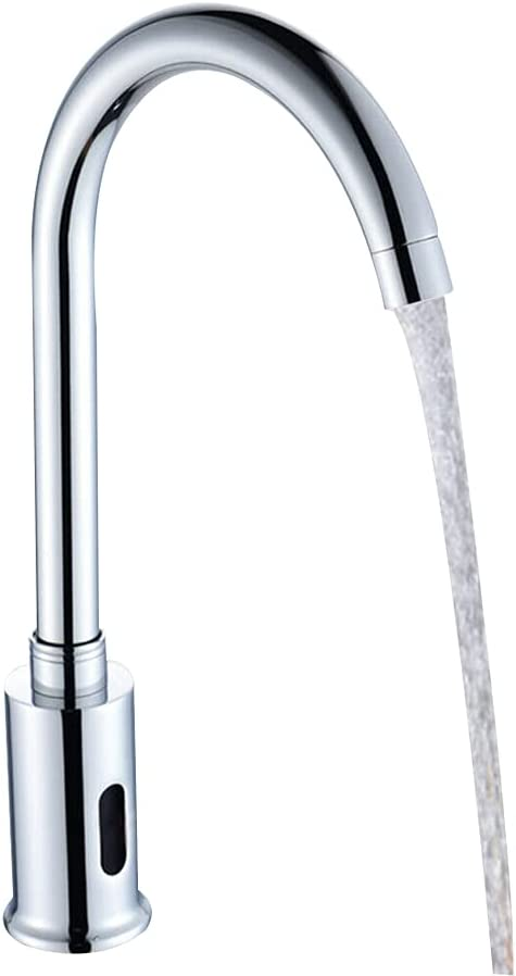 Water-Faucet Year-end annual account Silver Credence Stainless Steel Basin Automatic Hands Modern