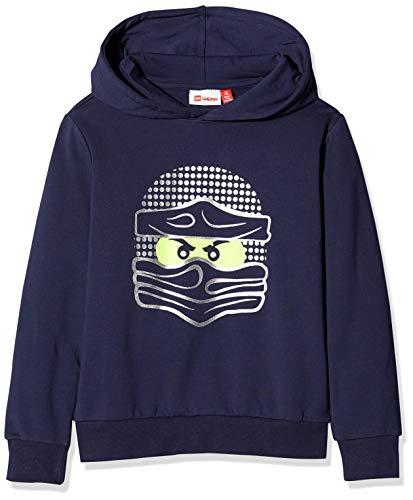 Lego Wear Jungen Lwsam Ninjago Sweatshirt, Blau (Dark Navy 590), (Herstellergröße: 128)