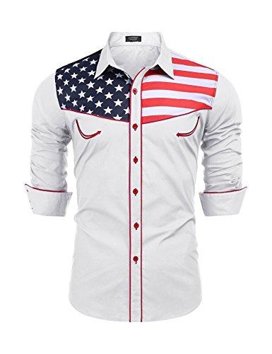 American Flag Jean Jacket Men's