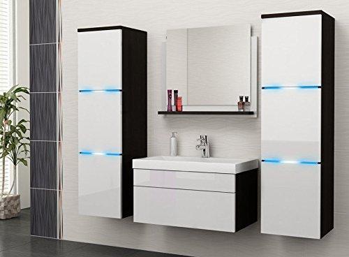 Luna mobile da bagno Set bagno mobili da bagno con lavabo e LED A07