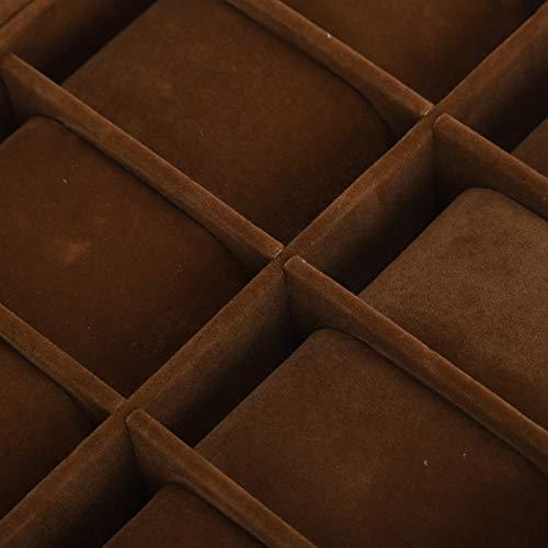 JADPES Caja de Almacenamiento de Relojes, Vitrina de Relojes Resistente para la mayoría de los tamaños y Estilos de Relojes para exhibición de Pulseras