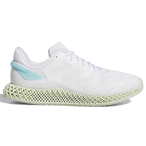 adidas Mens 4D Run 10Parley Shoes Cloud WhiteBlue Spirit FV5323 Size 10