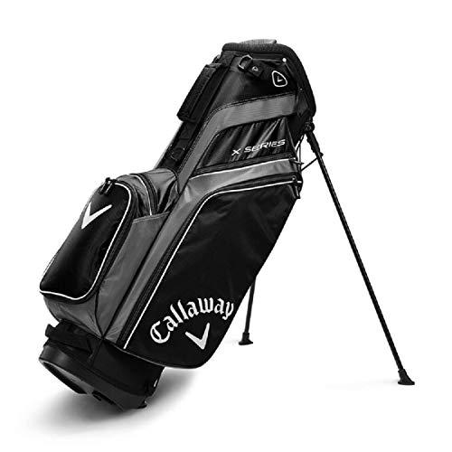 Callaway Herren X-Serie Standbag Golf, Herren, Golftasche, 5119279, Schwarz/Titan/Weiß, Einheitsgröße