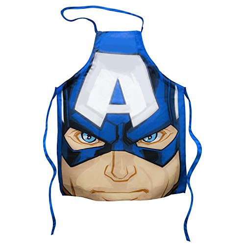 Captain America Cooking Apron | Marvel's Shielded Avenger on a Kitchen Apron | Perfect for BBQ & More | 100% Cotton