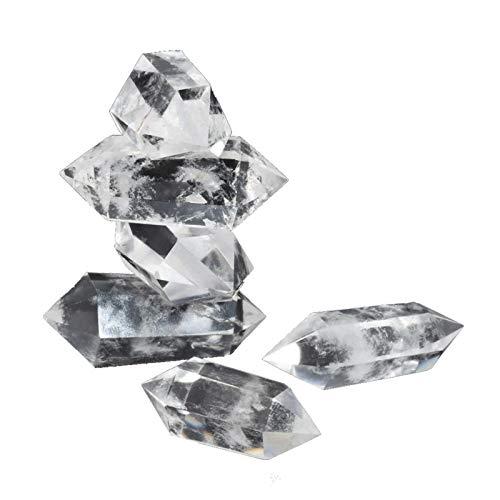 Cuarzo de Cristal, Piedra de Cristal 100 Natural Transparente única, 50-60 mm de Cuarzo Blanco para Curar Reiki, Cortar, pulir, Hacer Joyas