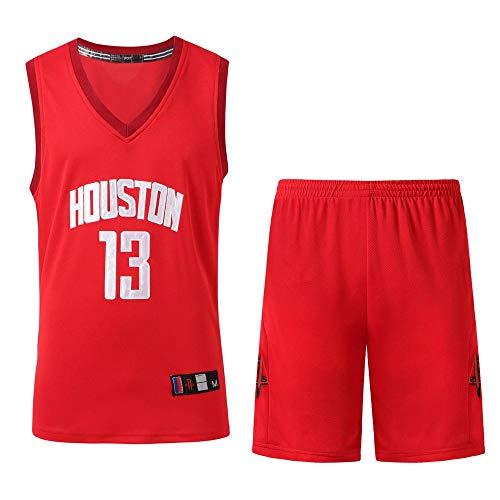 DDSC Baloncesto Uniformes NBA Rockets No. 13 Bordado Transpirable y Resistente Nuevo Tela Bordada Camiseta Deportivas de Jersey Chaleco Transpirable de Secado rápido -Ropa De Jersey Red-XX-Large