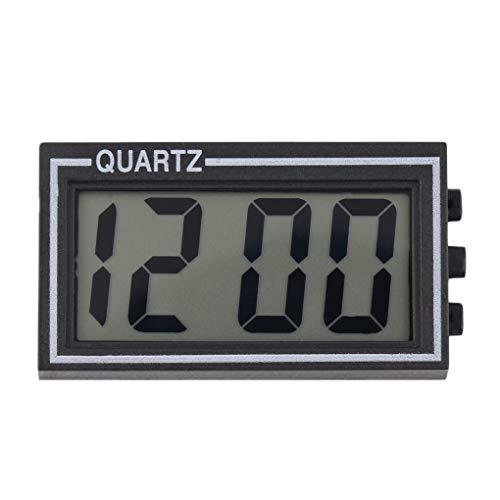 Fengyuanhong Schwarz-Digital-LCD Tisch Auto Uhr Armaturenbrett Schreibtisch Datum Zeit Kalender Mini kleine elektronische Uhr LinXiuFusdsd