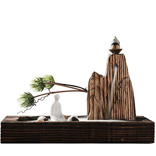BIKCVA Backflow Quemador de Incienso backflow Creativo Agua Adornos hogar Madera de Incienso Incienso de Interior Zen Zen aromaterapia Horno