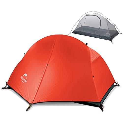 Naturehike テント 一人用 ソロキャンプ アウトドア キャンプ バイクツーリング 二重層テント 設営簡単 コンパクト PU3000+ 軽量 登山 公園 海 防災 4シーズン グランドシート付